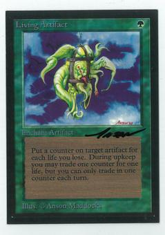 Magic the Gathering Beta Artist Proof Living Artifact - SIGNED BY ANSON MADDOCKS