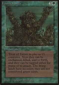 Magic the Gathering Beta Single Living Lands - NEAR MINT (NM)