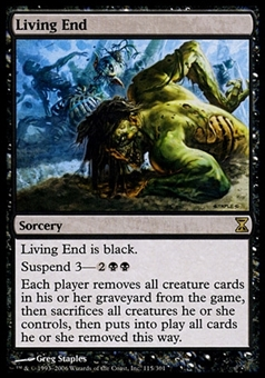 Magic the Gathering Time Spiral Single Living End FOIL - MODERATE PLAY (MP)