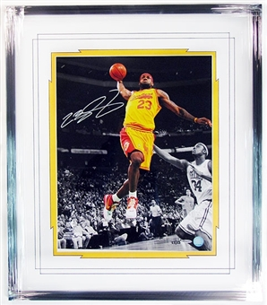 LeBron James Autographed & Framed Cleveland Cavaliers 16x20 Photo UDA #/23
