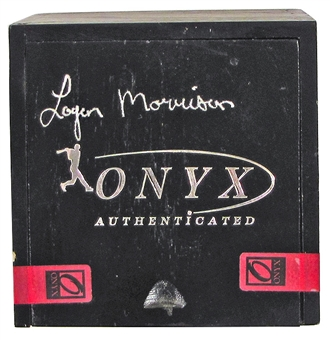Logan Morrison Autographed Onyx Baseball and Box Unopened