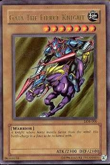 Yu-Gi-Oh BEWD Single Gaia The Fierce Knight Ultra Rare (LOB-006) - SLIGHT PLAY (SP)