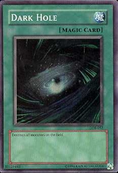 Yu-Gi-Oh BEWD Single Dark Hole Super Rare (LOB-052)