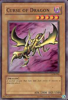 Yu-Gi-Oh BEWD Single Curse Of Dragon Rare (LOB-066)