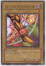Yu-Gi-Oh BEWD 1st Ed. Left Leg of the Forbidden One Ultra Rare (LOB-121) MODERATE PLAY (MP)