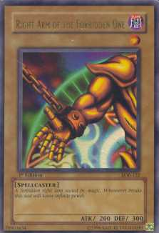Yu-Gi-Oh BEWD 1st Ed. Right Arm Of The Forbidden One Ultra Rare (LOB-122)