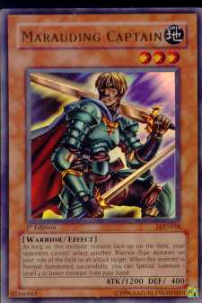 Yu-Gi-Oh Legacy of Darkness 1st Edition Marauding Captain Ultra Rare (LOD-018)