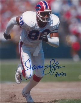 James Lofton Autographed Buffalo Bills 8x10 White Jersey Football Photo