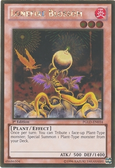 Yu-Gi-Oh Premium Gold 1st Edition Single Lonefire Blossom (PGLD-EN034) - NEAR MINT