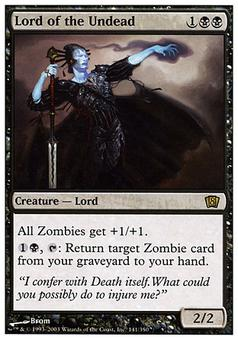 Magic the Gathering 8th Edition Single Lord of the Undead FOIL - SLIGHT PLAY (SP)