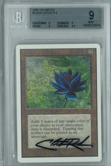 Magic the Gathering Unlimited Single Black Lotus BGS 9 - *0008376978* Artist signed case
