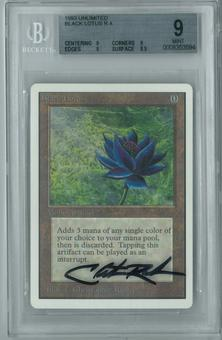 Magic the Gathering Unlimited Single Black Lotus BGS 9 - *0008353594* Artist Signed Case