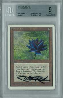 Magic the Gathering Unlimited Single Black Lotus BGS 9.0 (9, 9.5, 9, 8.5) Artist signed on the case!