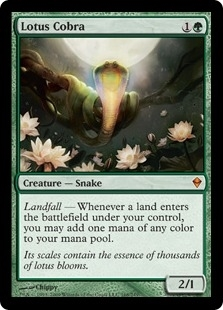 Magic the Gathering Zendikar Single Lotus Cobra - SLIGHT PLAY (SP)