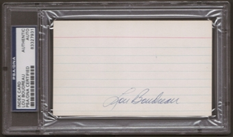 Lou Boudreau Autograph (Index Card) PSA/DNA Certified *7931