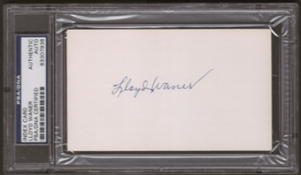 Lloyd Warner Autograph (Index Card) PSA/DNA Certified *7938