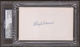 Lloyd Warner Autograph (Index Card) PSA/DNA Certified *7939
