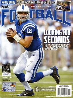 2013 Beckett Football Monthly Price Guide (#274 November) (Luck)