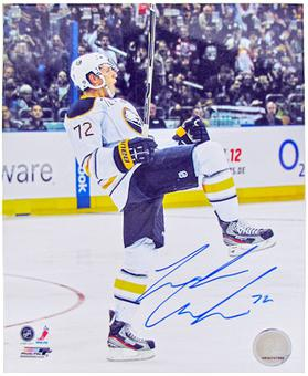 Luke Adam Autographed Buffalo Sabres 8x10 Hockey Photo