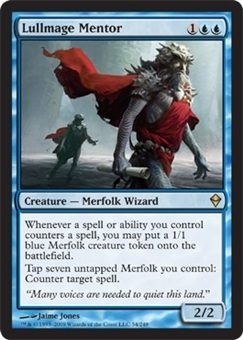 Magic the Gathering Zendikar Single Lullmage Mentor Foil