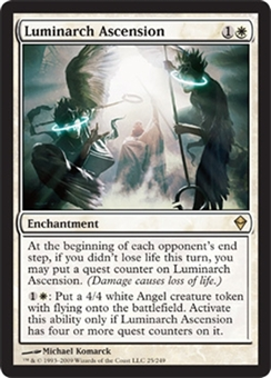 Magic the Gathering Zendikar Single Luminarch Ascension UNPLAYED (NM/MT)