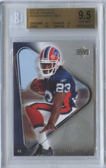 2007 Upper Deck Rookie Premiere #18 Marshawn Lynch RC BGS 9.5 Gem Mint