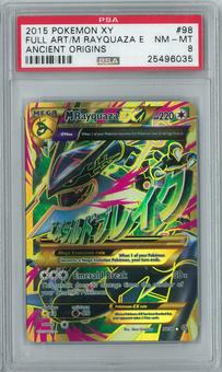 Pokemon XY Ancient Origins M Rayquaza EX 98/98 Full-Art Holo Rare PSA 8