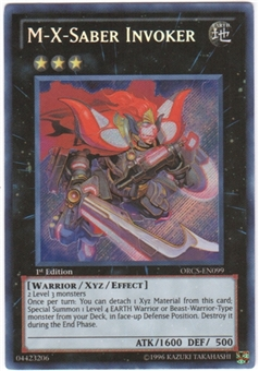 Yu-Gi-Oh Order of Chaos Single M-X-Saber Invoker Secret Rare