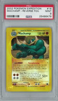 Pokemon Expedition Machamp 16/165 Reverse Foil Rare PSA 9
