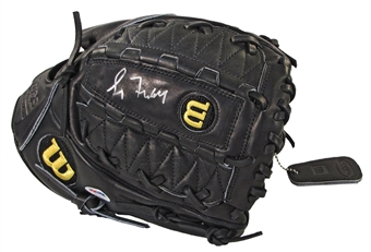 Greg Maddux Autographed Authentic Black Baseball Glove (PSA)