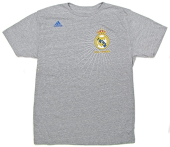 Real Madrid FC Adidas Grey Euro Soccer Tri-blend T-Shirt (Size Large)