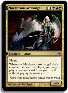 Magic the Gathering Conflux Single Maelstrom Archangel LIGHT PLAY (NM)