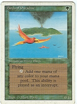Magic the Gathering 3rd Ed (Revised) Single Birds of Paradise - MODERATE PLAY (MP)