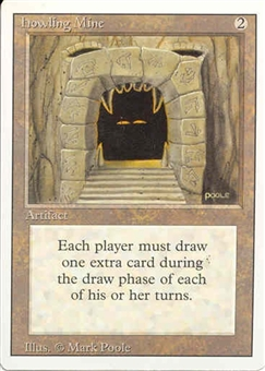 Magic the Gathering 3rd Ed (Revised) Single Howling Mine - NEAR MINT (NM)