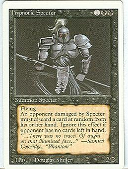 Magic the Gathering 3rd Ed (Revised) Single Hypnotic Specter - NEAR MINT (NM)