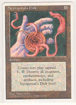 Magic the Gathering 4th Edition Single Nevinyrral's Disk - NEAR MINT (NM)