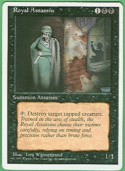 Magic the Gathering 4th Edition Single Royal Assassin - SLIGHT PLAY (SP)