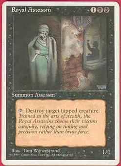 Magic the Gathering 4th Edition Single Royal Assassin - MODERATE PLAY (MP)