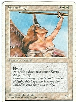 Magic the Gathering 4th Edition Single Serra Angel GERMAN - SLIGHT PLAY (SP)