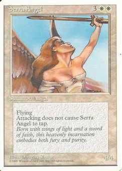 Magic the Gathering 4th Edition Single Serra Angel UNPLAYED (NM/MT)