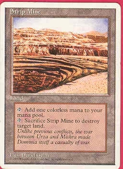 Magic the Gathering 4th Edition Single Strip Mine - SLIGHT PLAY (SP)