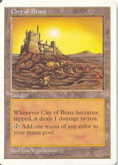 Magic the Gathering 5th Edition Single City of Brass UNPLAYED (NM/MT)