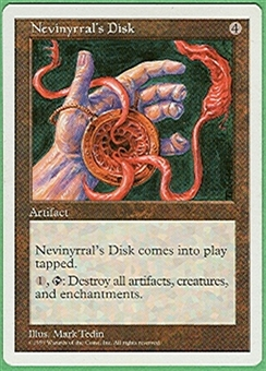Magic the Gathering 5th Edition Single Nevinyrral's Disk - NEAR MINT (NM)