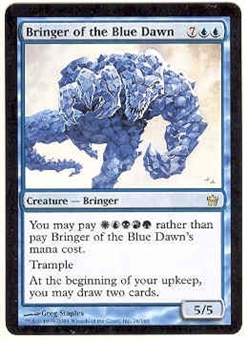 Magic the Gathering Fifth Dawn Single Bringer of the Blue Dawn FOIL