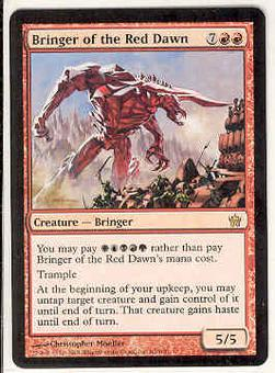 Magic the Gathering Fifth Dawn Single Bringer of the Red Dawn - NEAR MINT (NM)