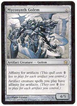 Magic the Gathering Fifth Dawn Single Mycosynth Golem - SLIGHT PLAY (SP)