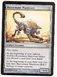 Magic the Gathering Fifth Dawn Single Razormane Masticore UNPLAYED (NM/MT)