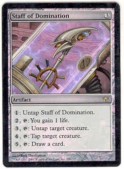Magic the Gathering Fifth Dawn Single Staff of Domination FOIL NEAR MINT (NM)