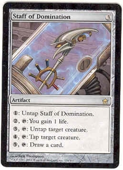 Magic the Gathering Fifth Dawn Single Staff of Domination UNPLAYED (NM/MT)