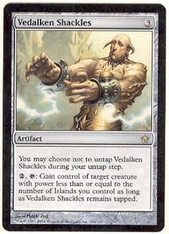 Magic the Gathering Fifth Dawn Single Vedalken Shackles UNPLAYED (NM/MT)